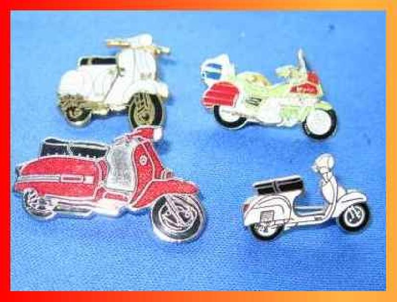 Collection of Vintage Badges of Scooter in Enamel