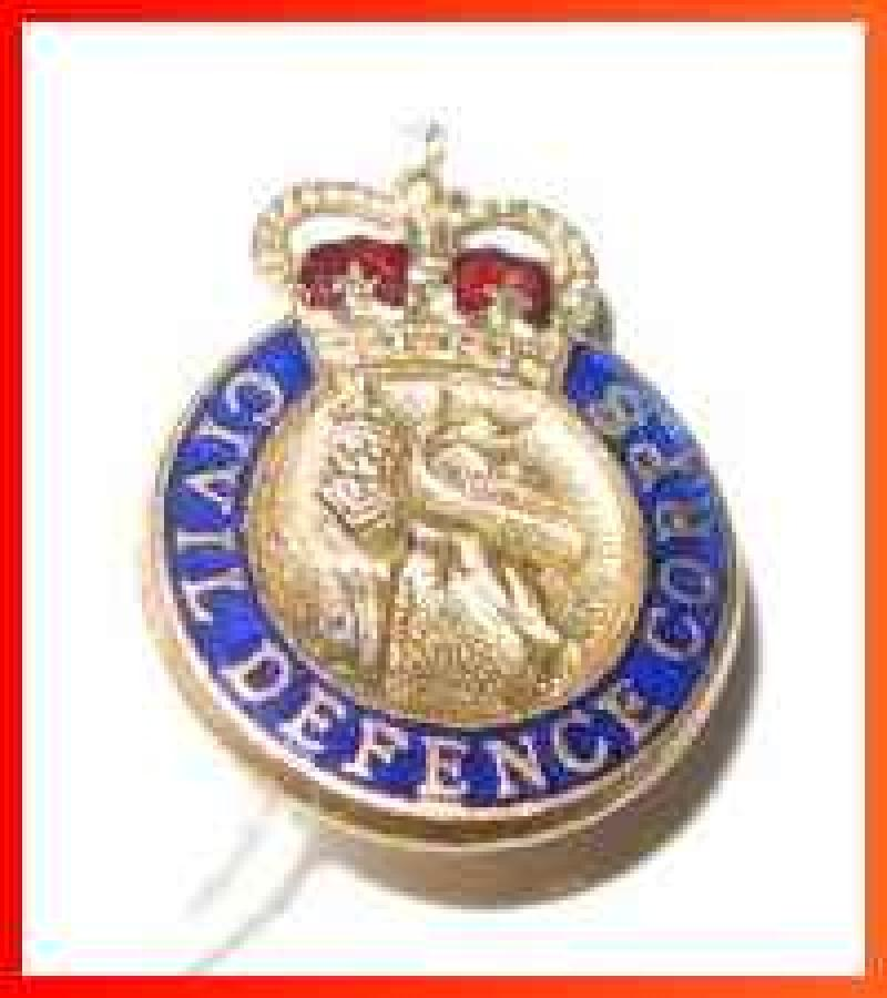 Civil Defence Corps Metal Enamel Lapel  Badge3