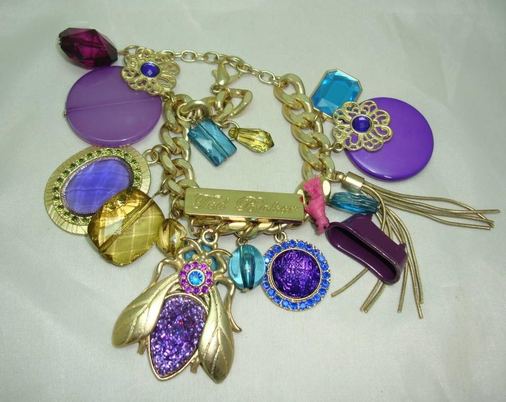 £65.00 - Fabulous One Off Designer Chunky Charm Bracelet Custom Made 1 of 1!
