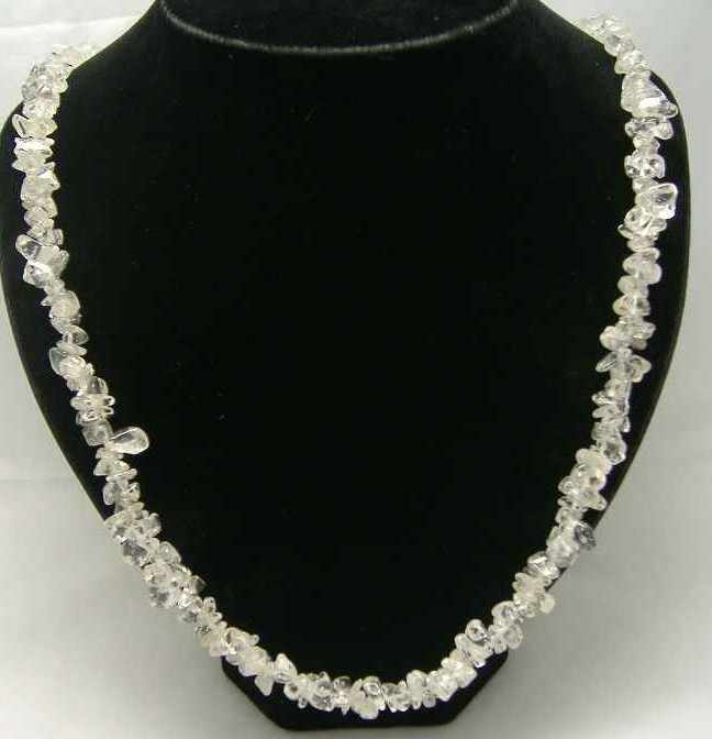 £14.40 - Fabulous Real White Quartz Crystal Necklace STUNNING!